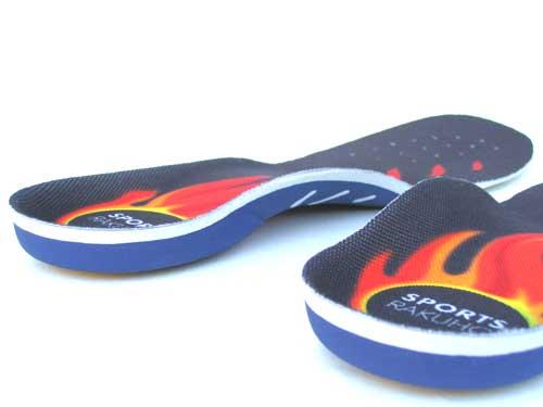 スポーツ用インソール,スポーツ用靴の中敷き,衝撃吸収,運動用