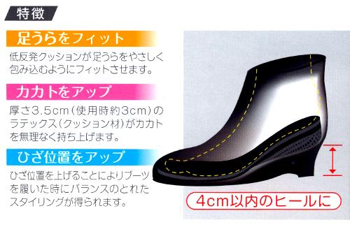 カカトフィット&アップインソール3.5cm#4 コロンブス スタイルソリューションCOLUMBUS Style Solution特長